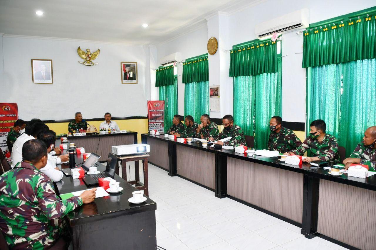 BPJS Ketenagakerjaan Sulbar sosialisi di Korem 142/Tatag