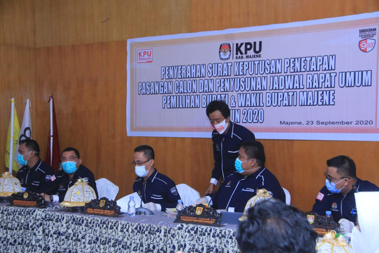 Gambar KPU Majene Tetapkan Paslon Bupati dan Wakil Bupati Majene