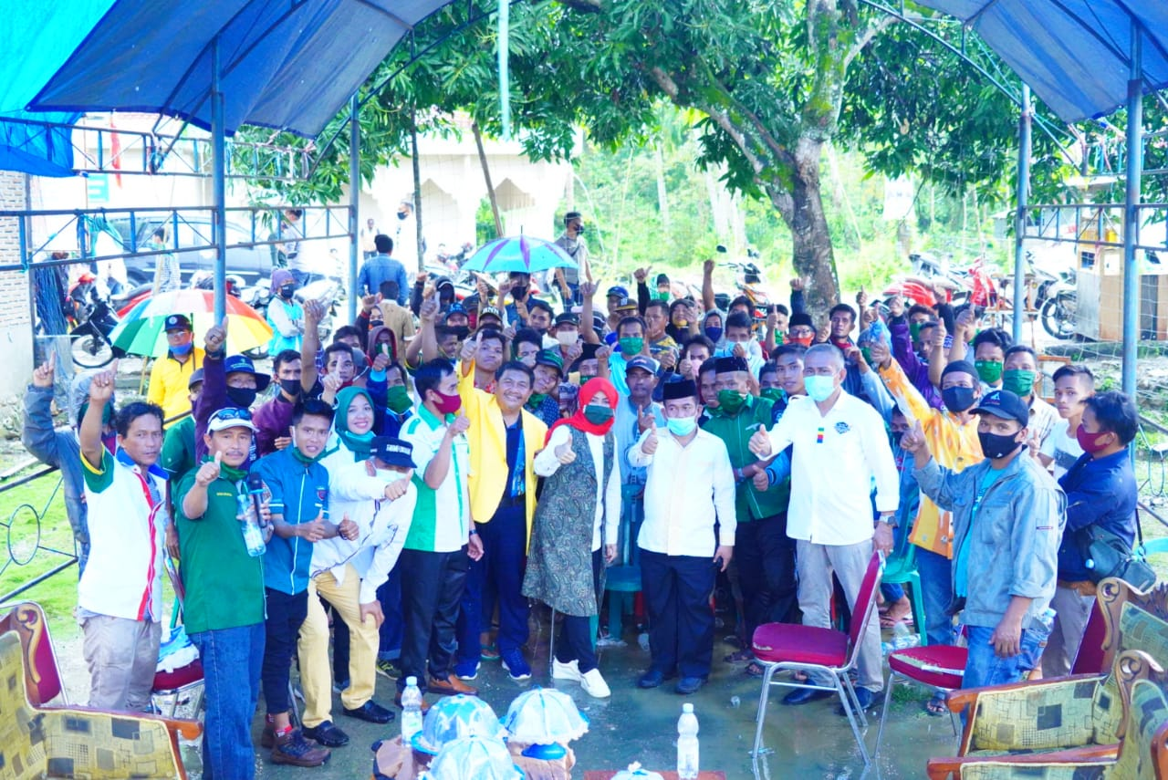 img Tim Pemenangan Patma-Lukman Dilantik di Dua  Kecamatan