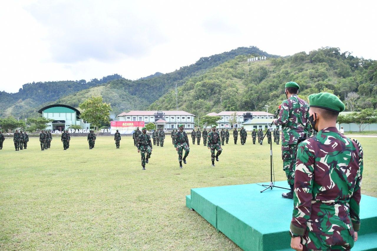 Prajurit Naik Pangkat, laporan Korps ke Danrem 142/Tatag