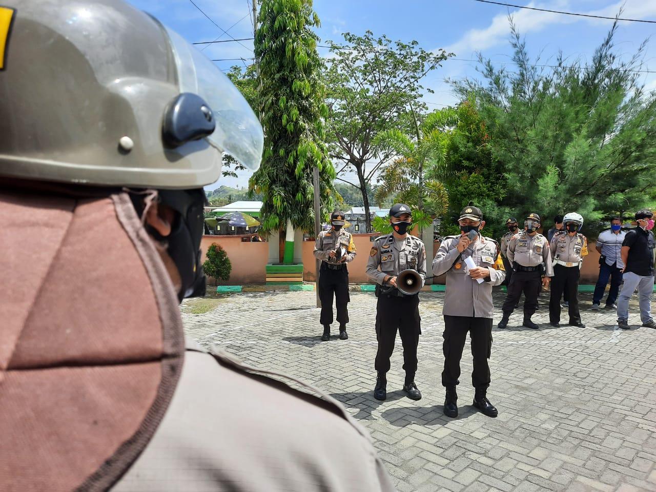 Gambar Polres Majene Lakukan Apel Kesiapan Pengamanan Aksi Lanjutan