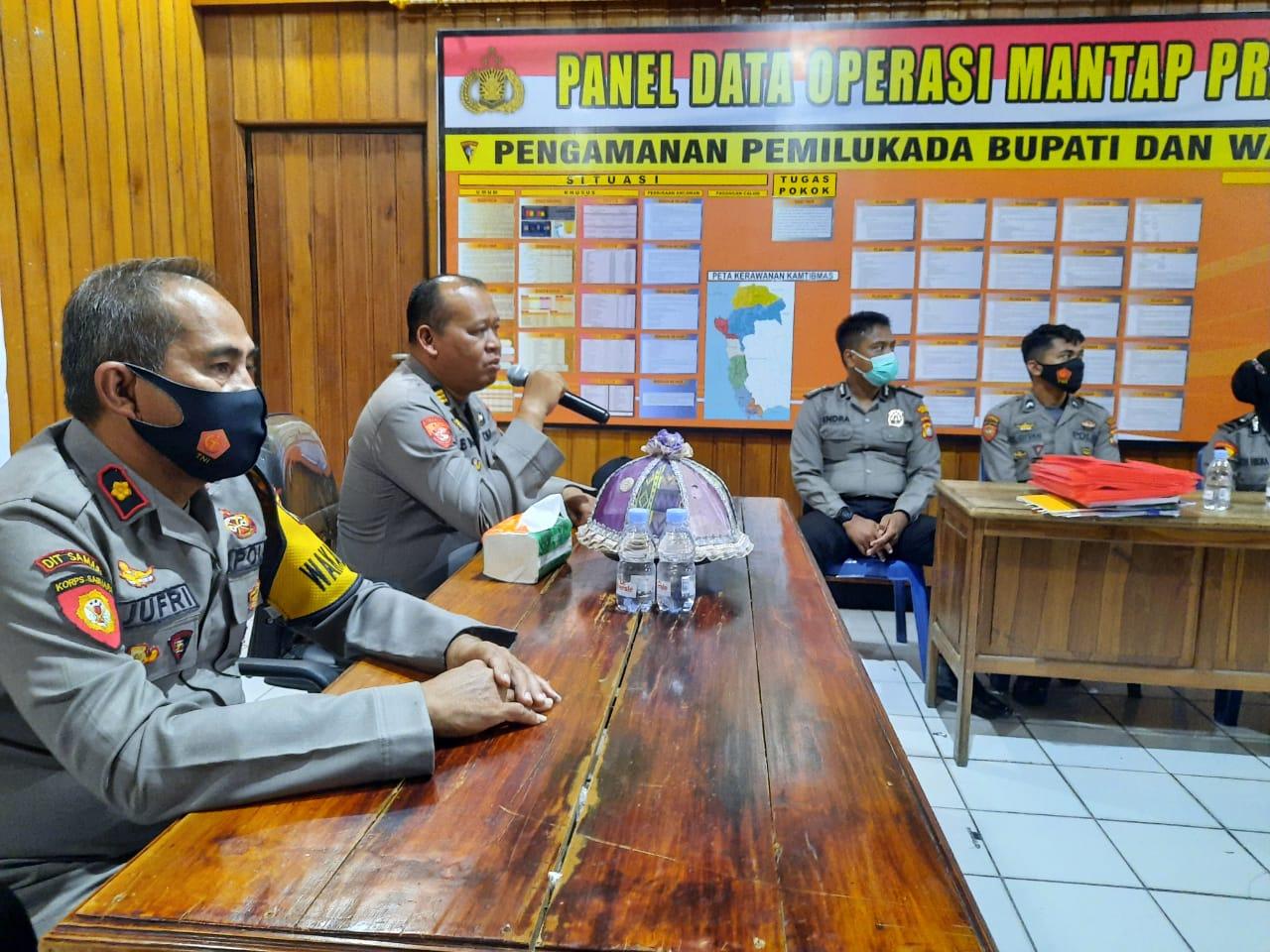 Gambar Setum Polda Sulbar Supervisi ke Polres Majene