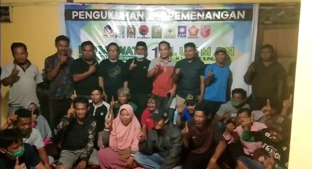 Gambar Korwil Pemenangan Paslon Patmawati-Lukman Kukuhkan Tim TPS Se Kecamatan Tammero'do