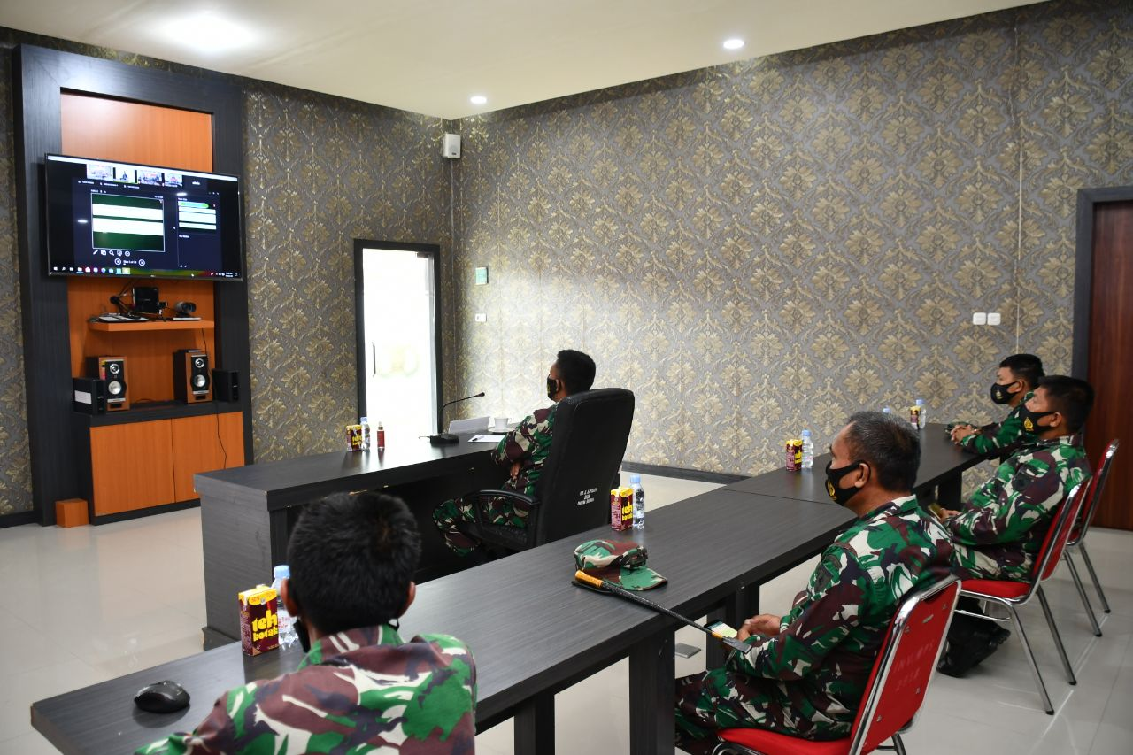 img Danrem 142/Tatag video conference dengan Tim Current Audit Itjenad