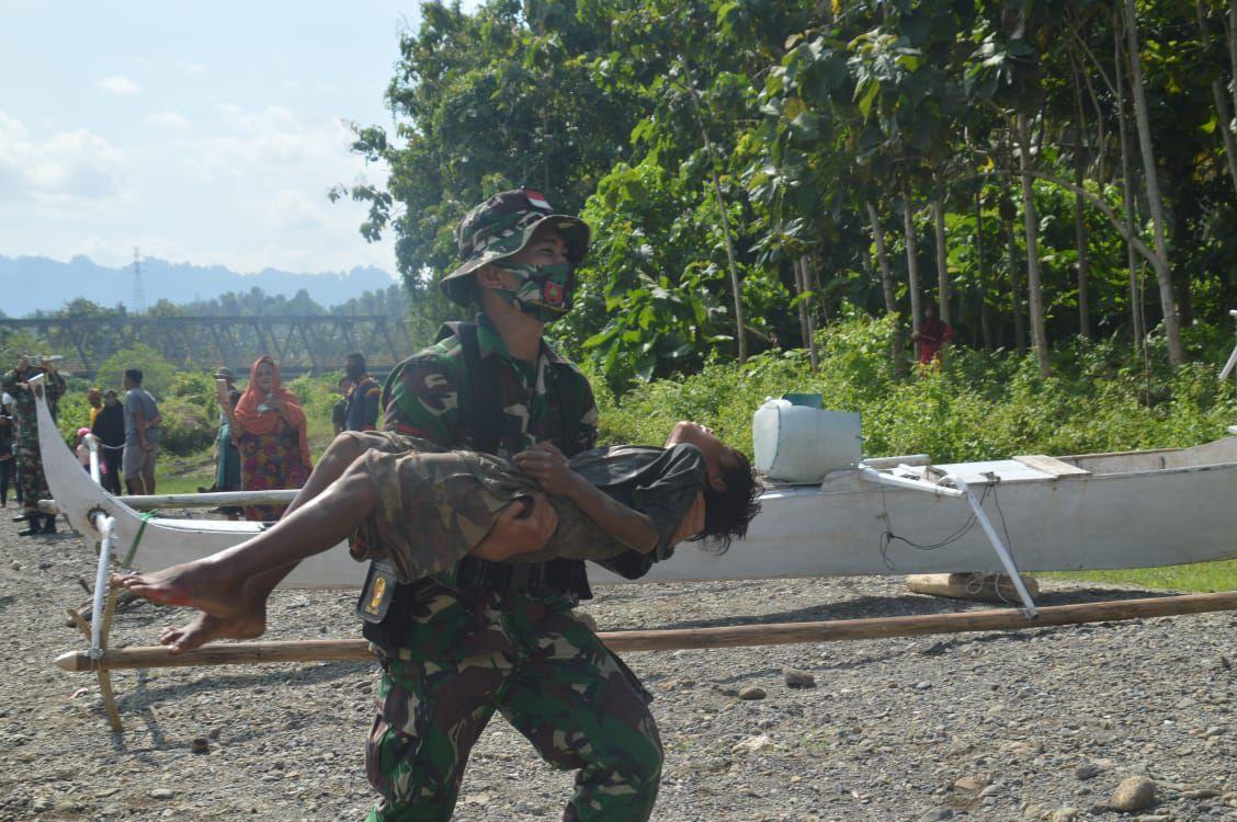 img Korem 142/Tatag Latihan Penanggulangan Bencana Alam di Mateng