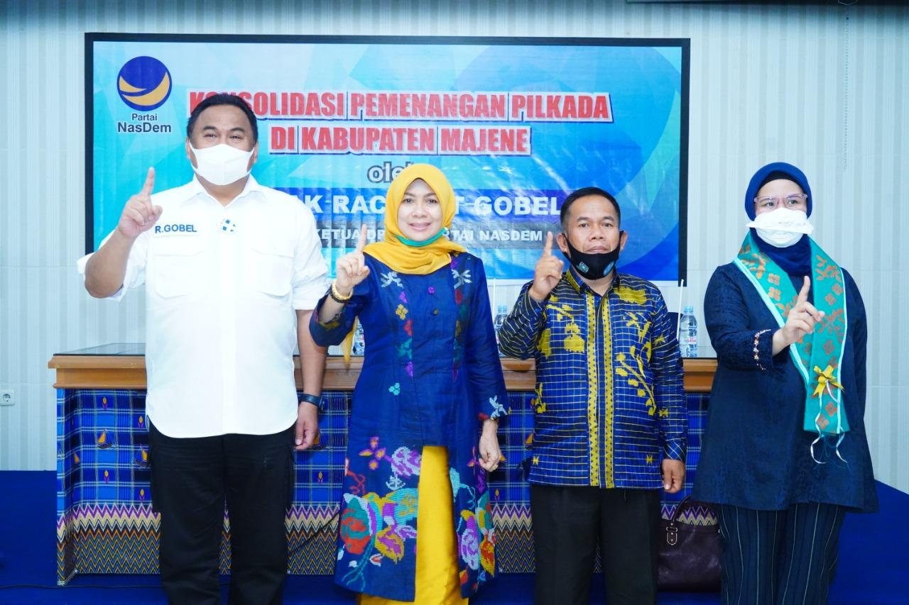 img Rahmat Gobel : Nasdem Serius Dukung Paslon 01 di Majene