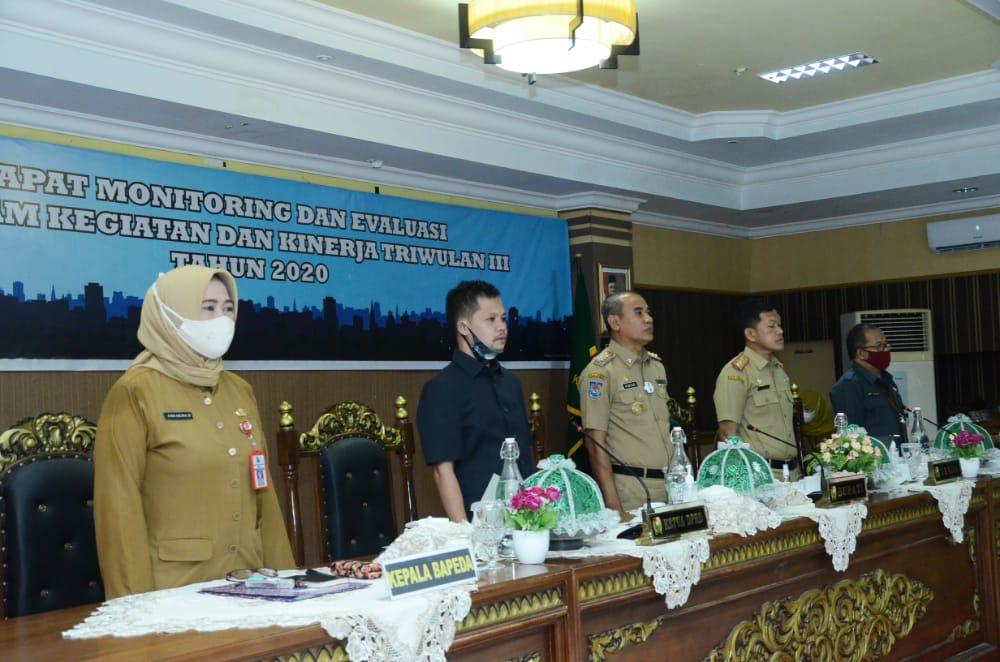 img Pemkab Majene Rapat Monev Program Kegiatan dan Kinerja Triwulan III Tahun 2020
