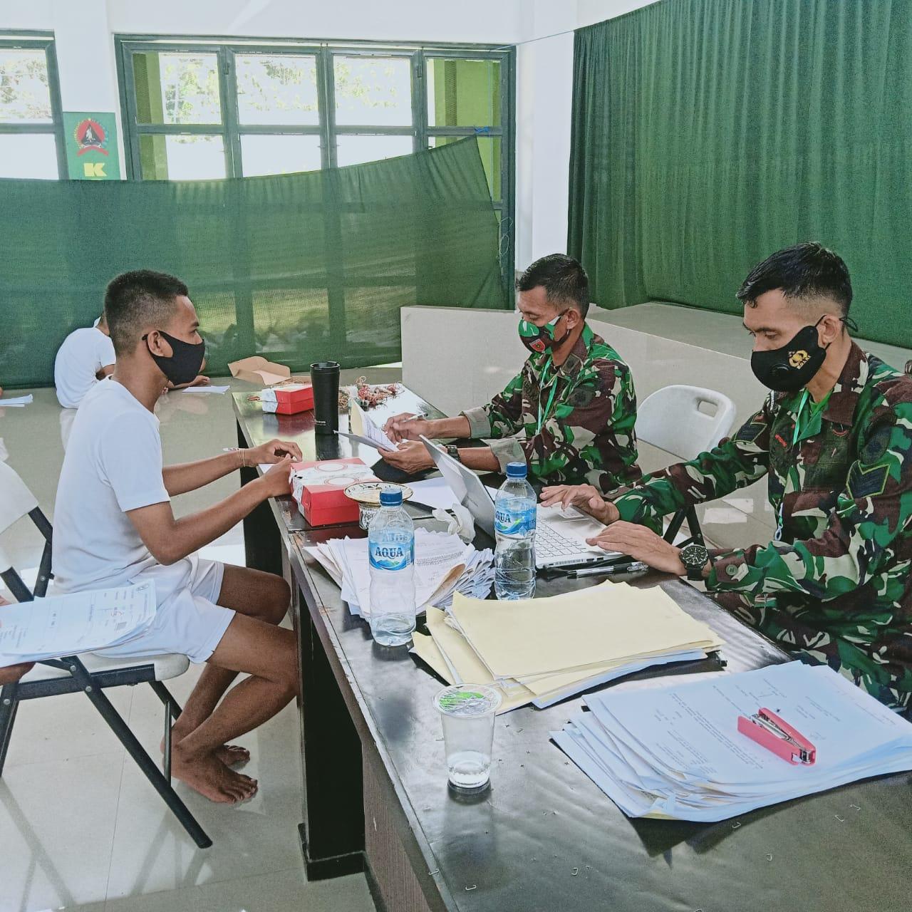 Gambar Seleksi Awal Cata PK TNI AD Sub Panda Mamuju Dimulai