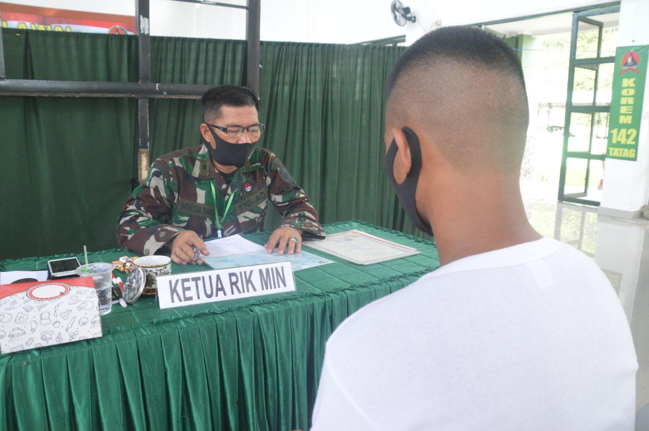 img Seleksi Cata PK TNI AD Sub Panda Mamuju Memasuki Hari Terakhir