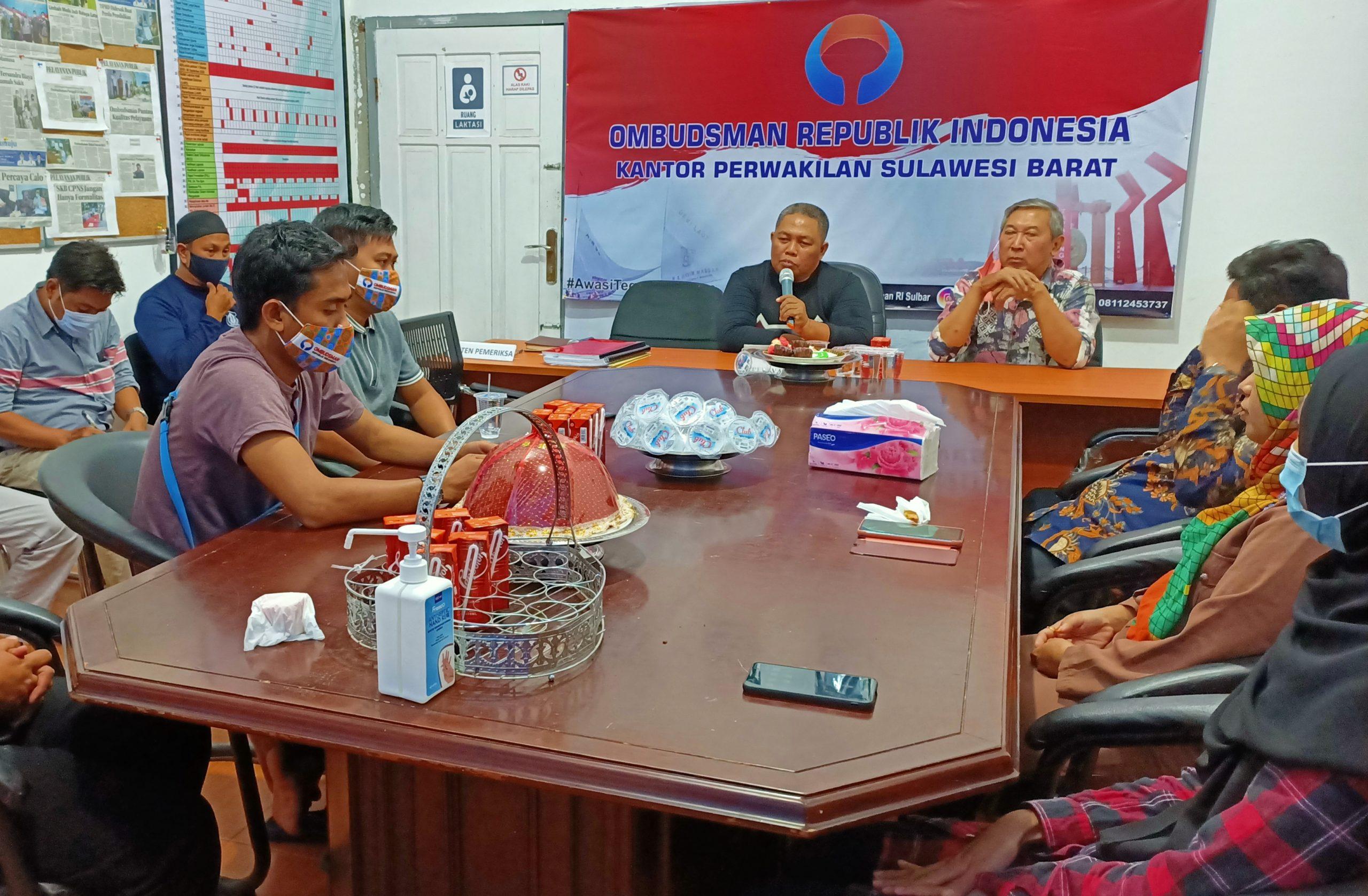 Mantan Penasehat KPK Berkunjung ke Ombudsman Sulbar, Ini Agendanya