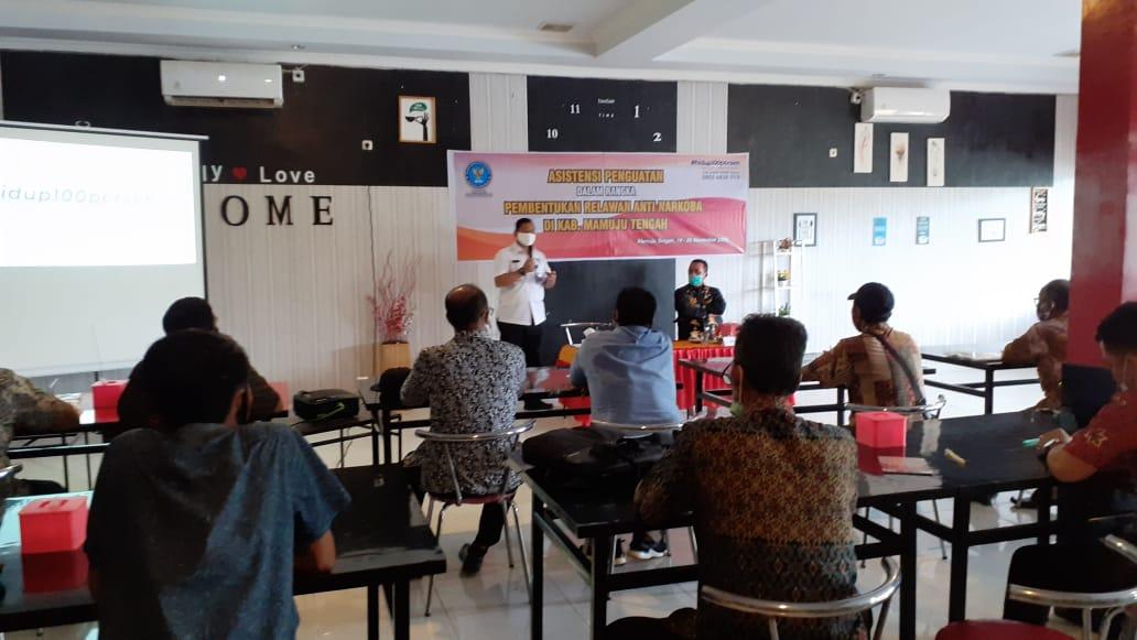 Gambar BNNP Sulbar Ajak Para Kades di Mamuju Tengah Jadi Relawan Anti Narkoba